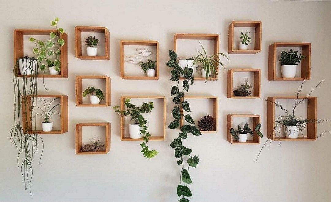 46 Amazing Wall Plants Decor For Cozy Living Room (45) - Possible Decor #livingroomfurniture #cozyliving