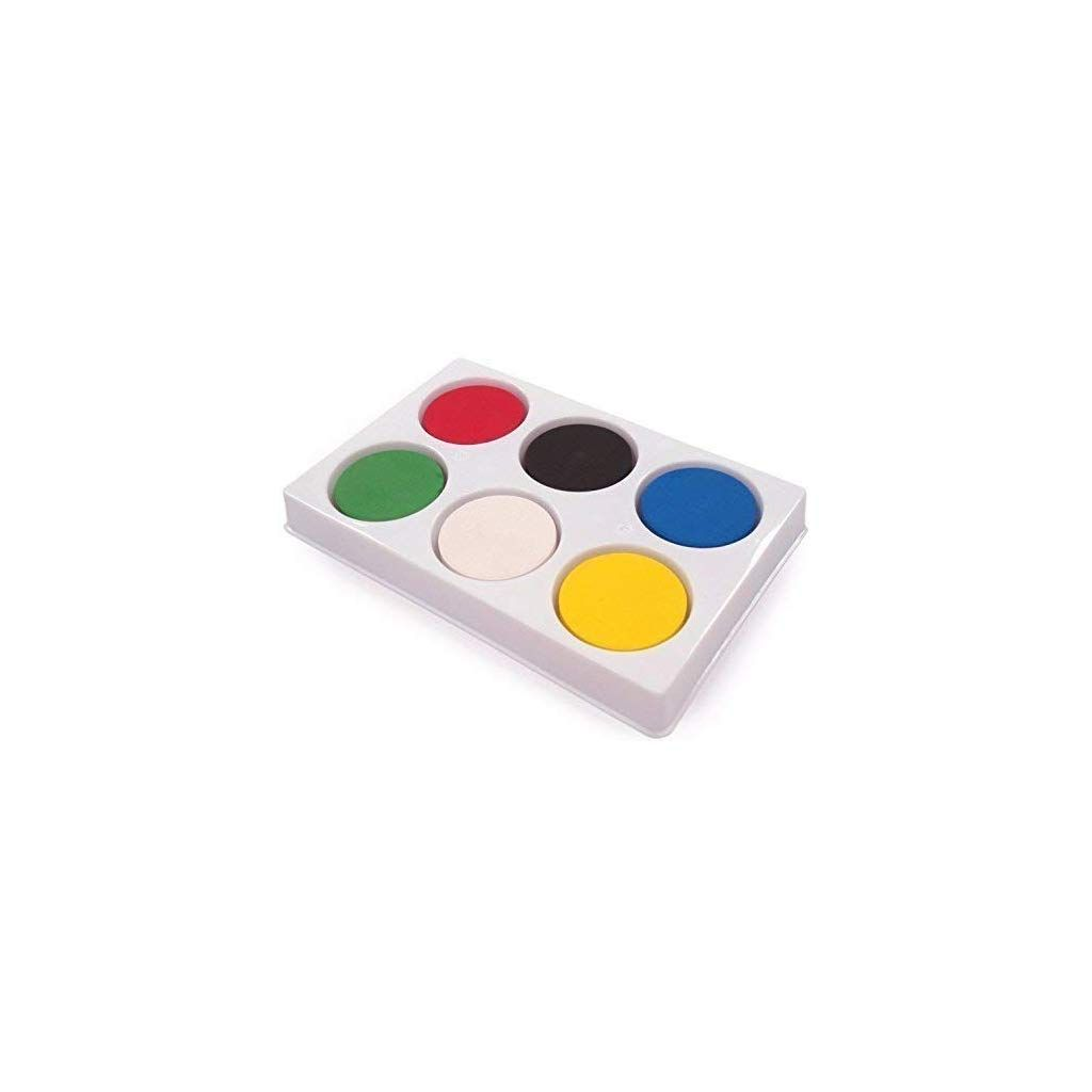 6 Well Block Palette With Paint Paint Set Painting Crafts