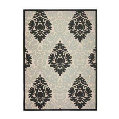 Entry option florence indoor outdoor rug ballard for Ballard designs bathroom rugs