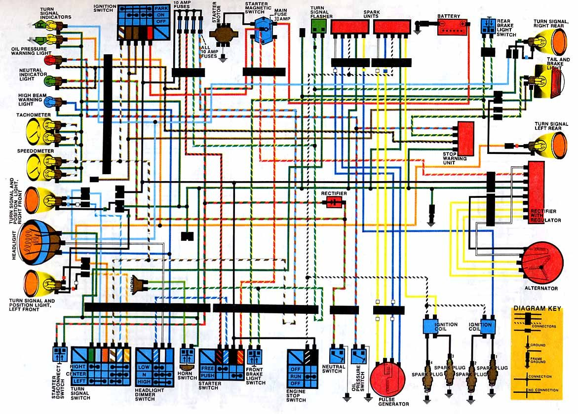 1981 cb750 wiring diagram lace sensor cb650 electrical 1979 pinterest