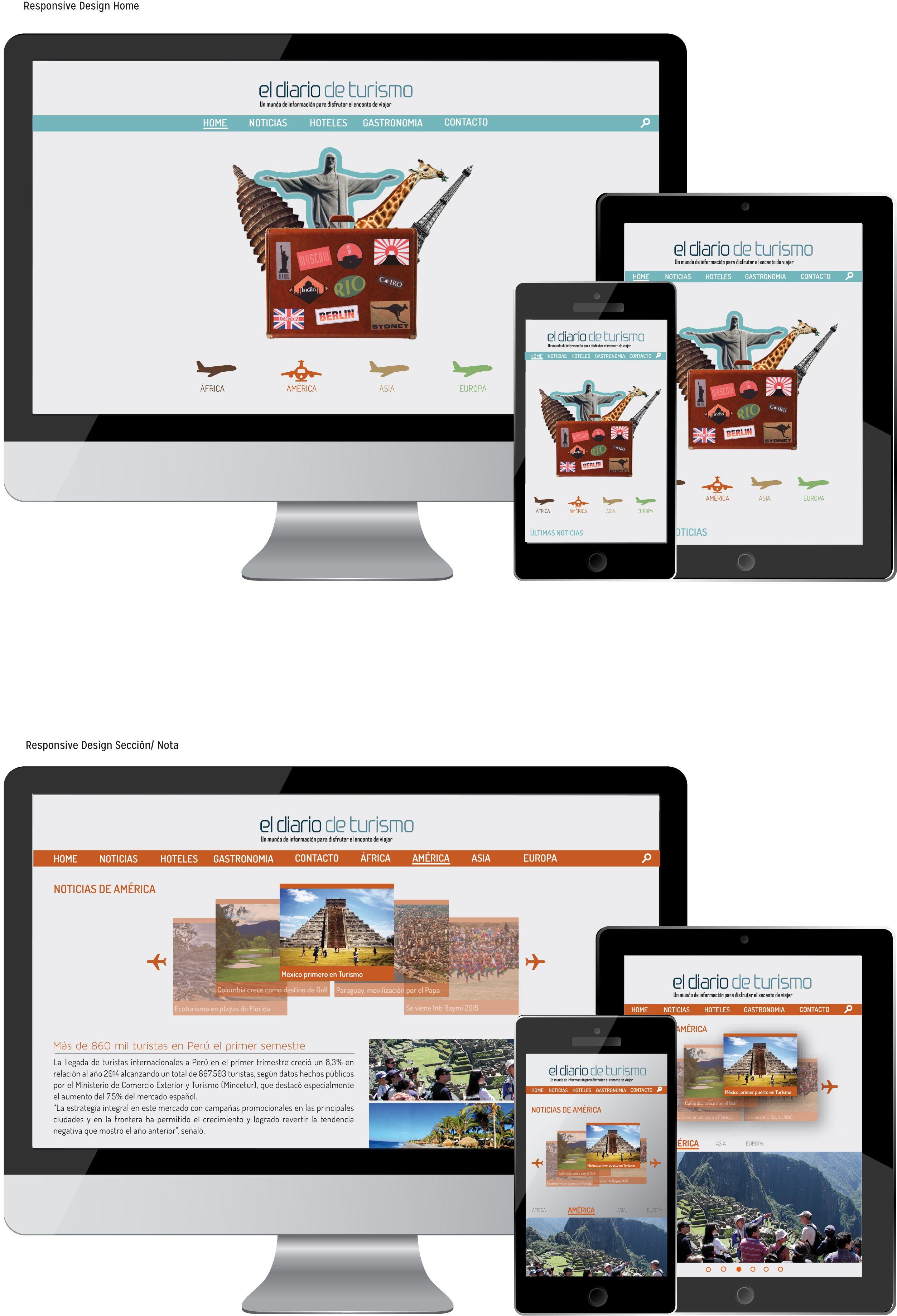 Responsive Design Graphic Design Web Design Travel Portal Home Section Hoteles Ciudades Eldiario