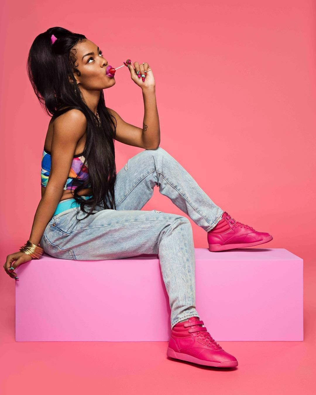 db57d68d580 Teyana Taylor Photoshoot Fresh with Reebok  Photos