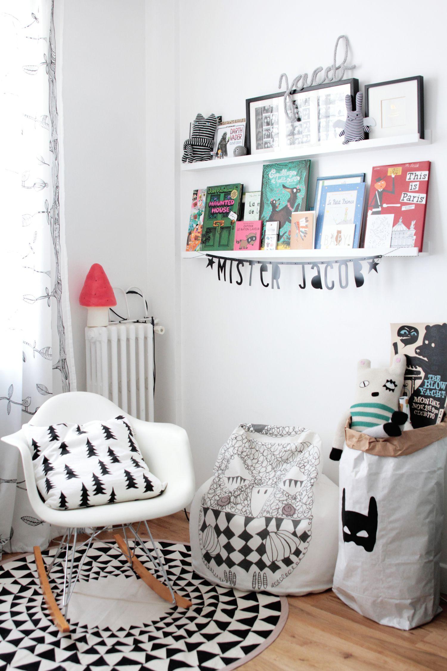 chambre-enfant-scandinave-noir-et-blanc-2326 | Chambre enfant ...