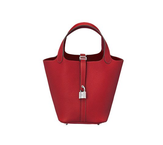 c2b648f8cda7 Hermès Picotin Lock 18 Hermes bag (size 18) Casaque red taurillon clemence  leather 7