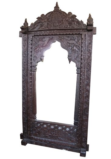 Moroccan Syrian Furniture Teak Wood Indian Mirror Mirror Antique Picture Frames Wooden Mirror