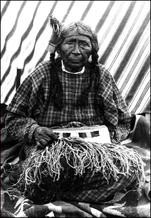 Mary a Yakima Indian, an incredible age at 120 years. Photo taken between 1880 and 1910.