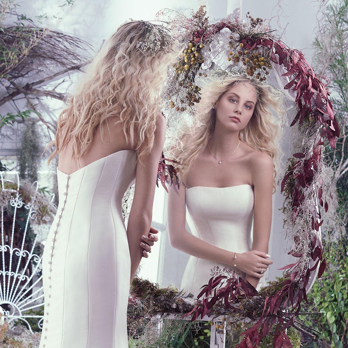 Maggie Sottero - Dante - Pure bridal elegance - Mikado - Full Button Back Detail - Y.A.P Bridal Boutique