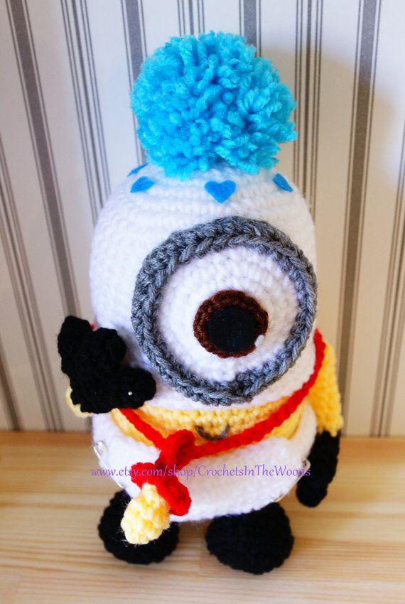 Crochet Amigurumi 11 Plush Doll Minion Baby by CrochetsInTheWoods ...