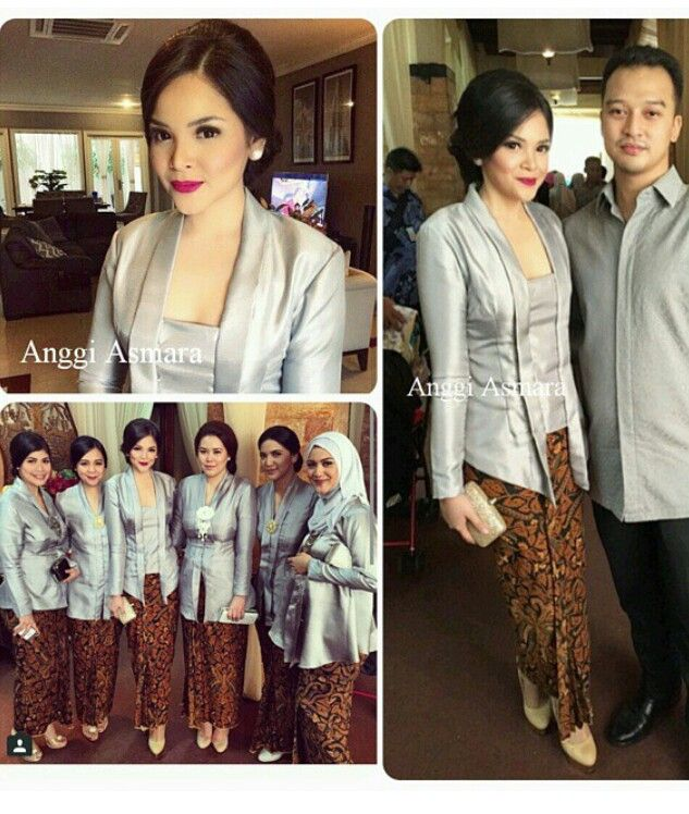 Silver and traditional batik; simple & elegant...