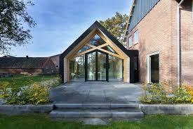Afbeeldingsresultaat voor oud huis en moderne aanbouw lunteren in