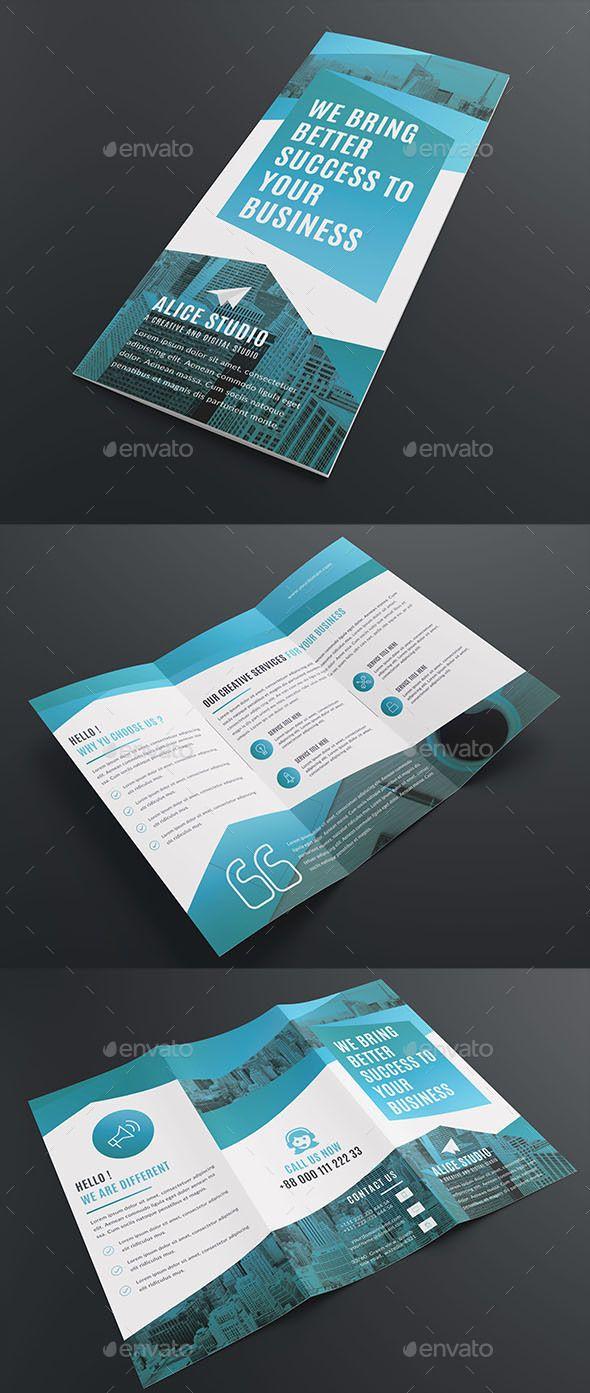 Corporate Tri Fold Brochure Template Corporate Brochures