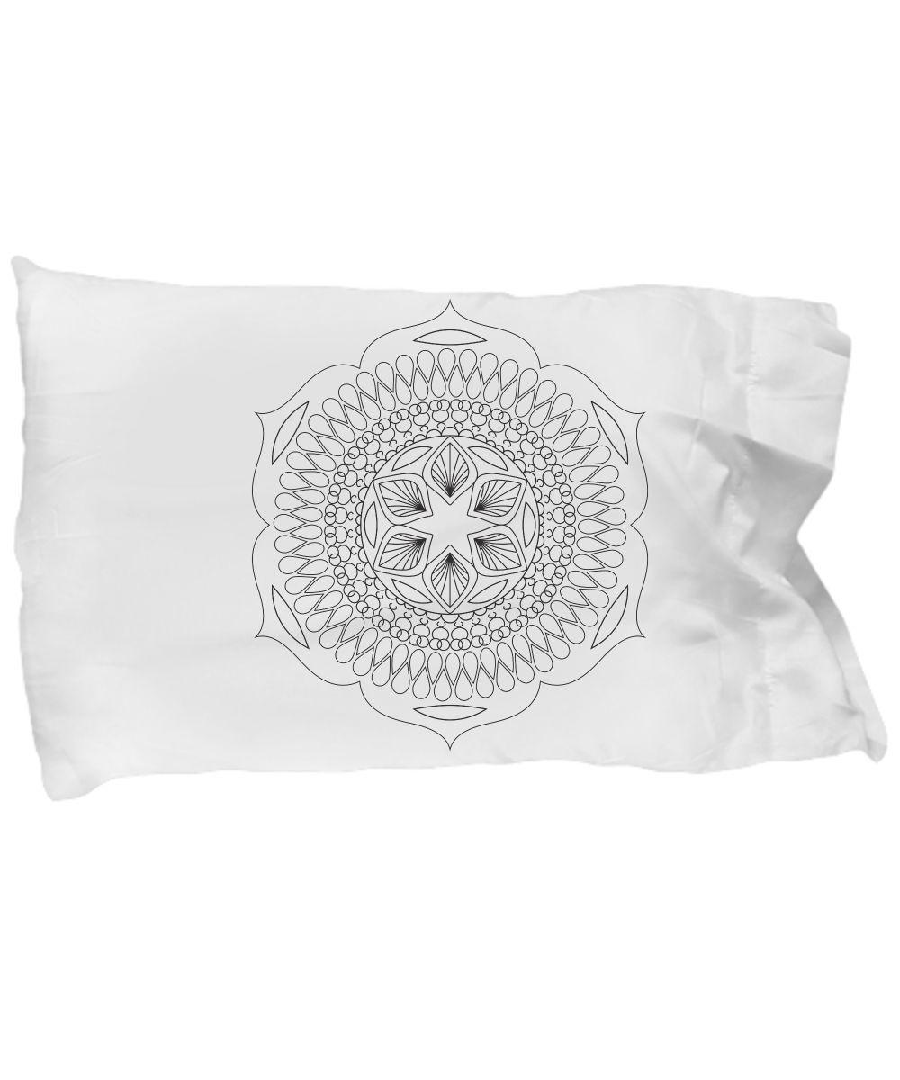 Adult Mandala Coloring Standard Pillowcase | Mandala coloring