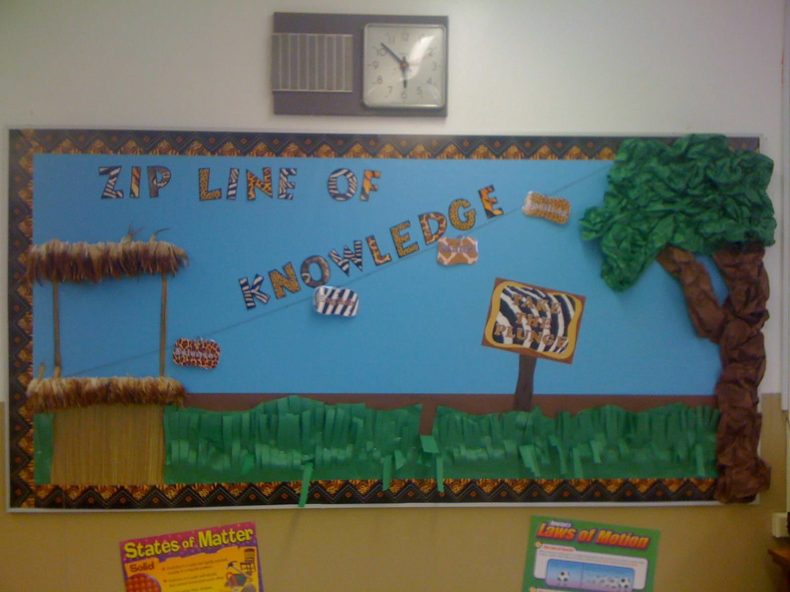 bulletin board for our jungle theme bulletin boards