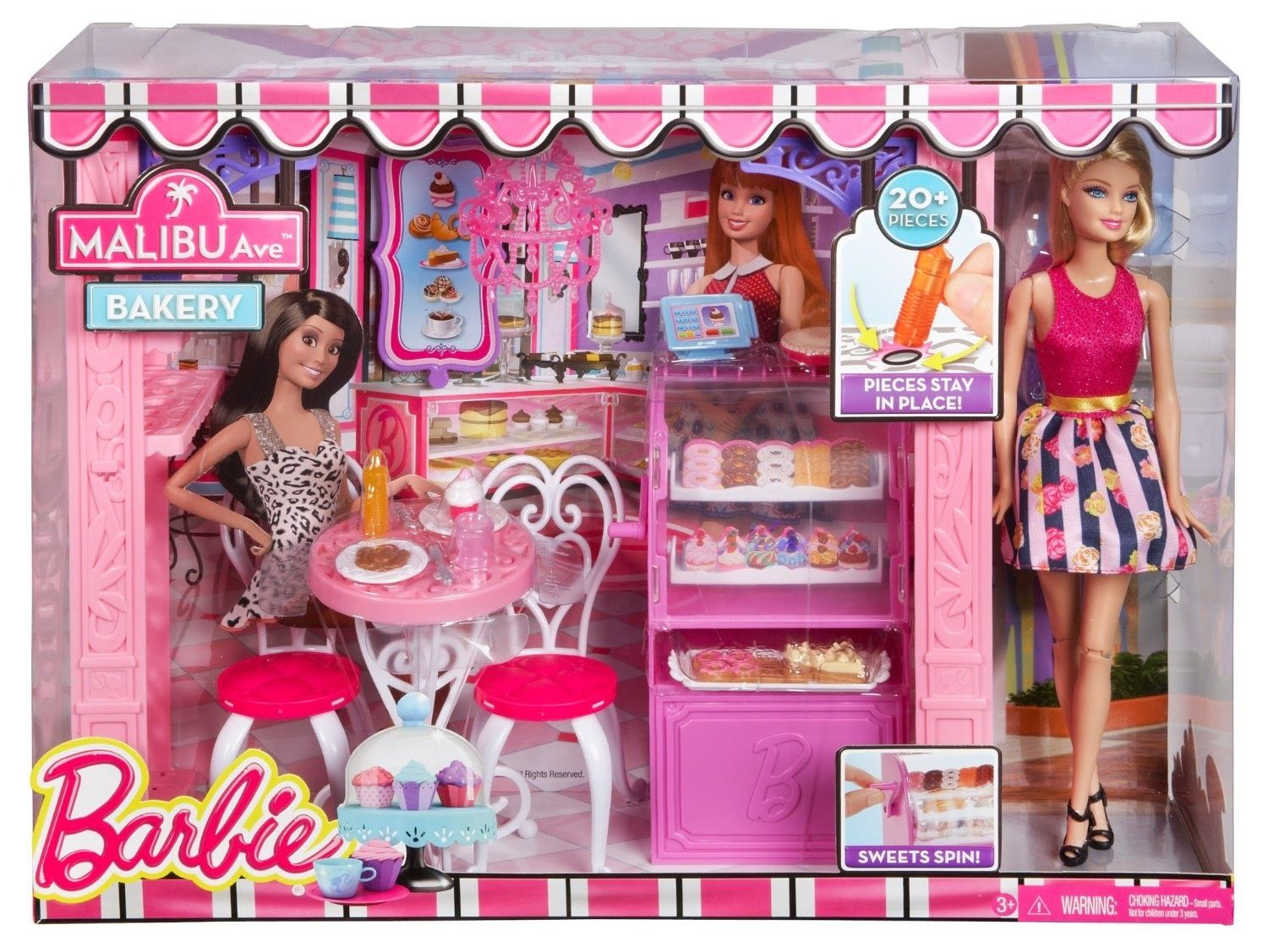 Barbie deluxe furniture stovetop to tabletop kitchen doll target - Barbie Life In The Dreamhouse Cafe And Doll Playset