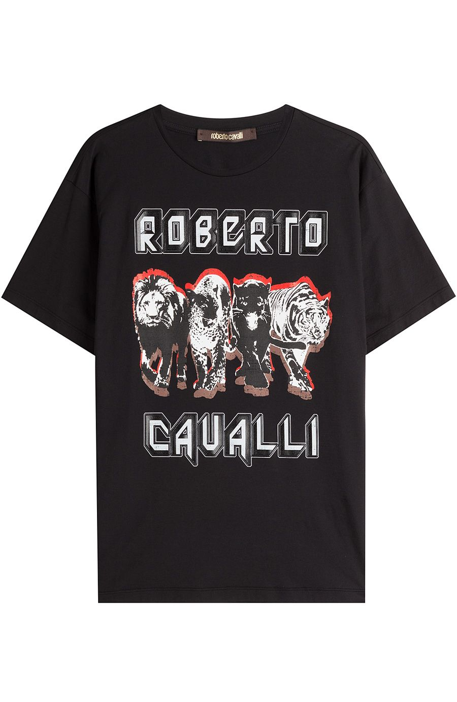 ROBERTO CAVALLI Printed Cotton T-Shirt. #robertocavalli #cloth #shortsleeve