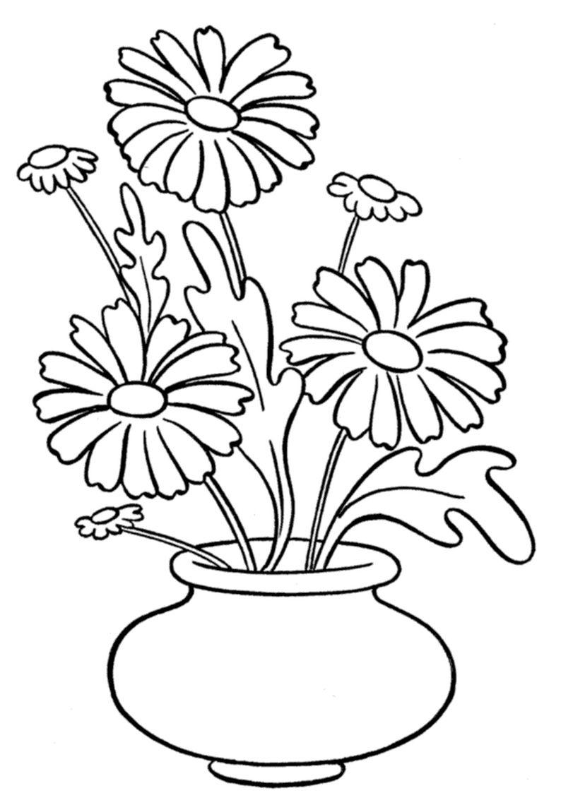 Http Www Kolorowankidowydruku Eu Images 202 Kolorowanki Rosliny Do Wydruku Malowanki Dla Dziec Flower Coloring Pages Flower Drawing Flower Embroidery Designs