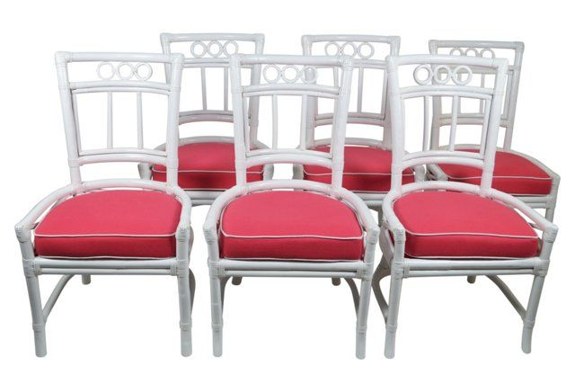 Ficks Reed Hibiscus Pink Colony Chairs
