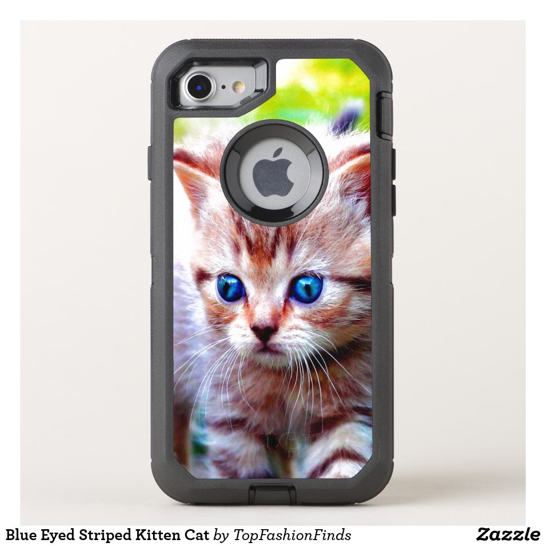 size 40 b72d5 0cc47 Blue Eyed Striped Kitten Cat OtterBox iPhone Case | Zazzle.com ...