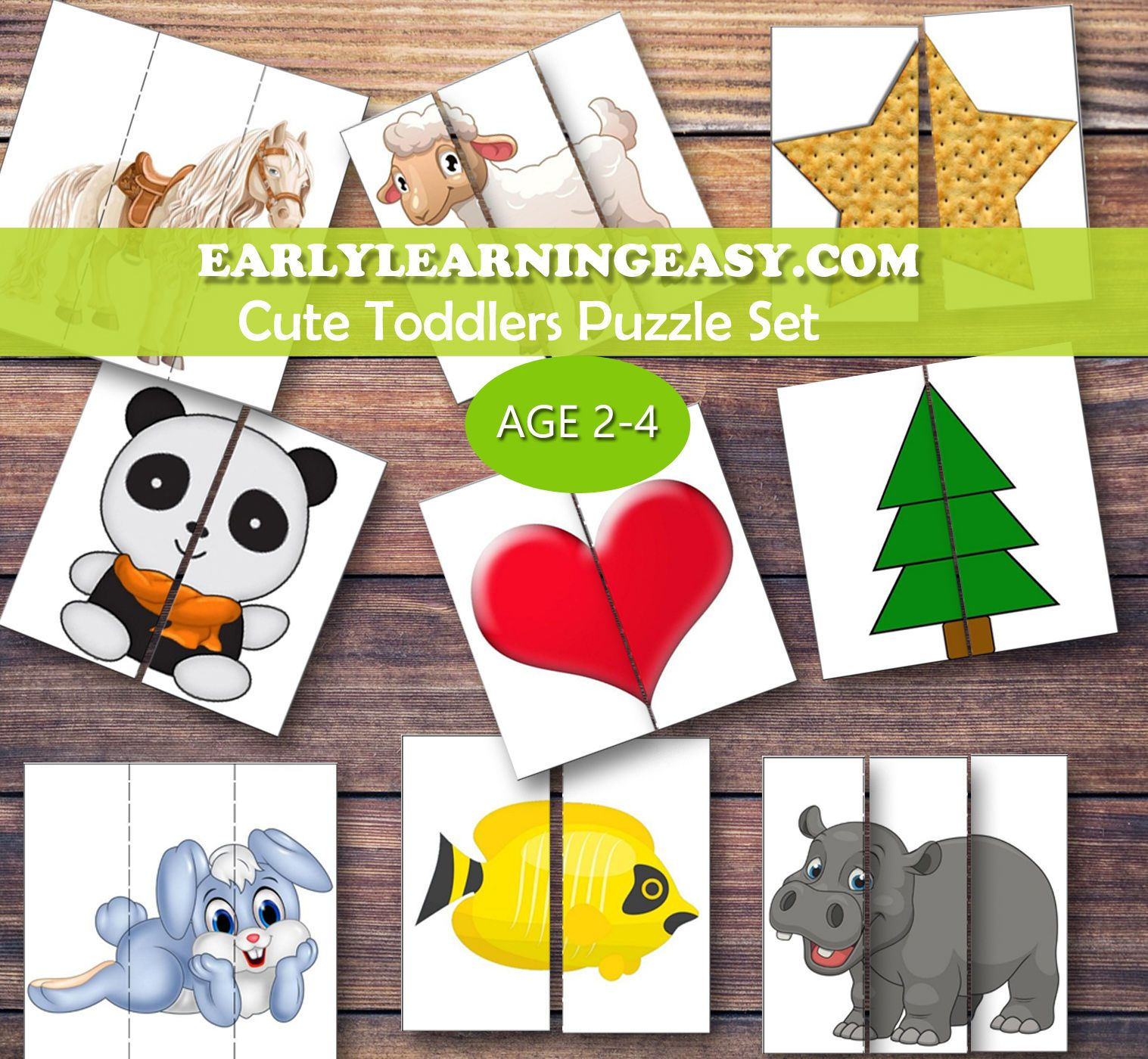 Free Puzzle For Toddlers 2 Piece Puzzle For Toddlers