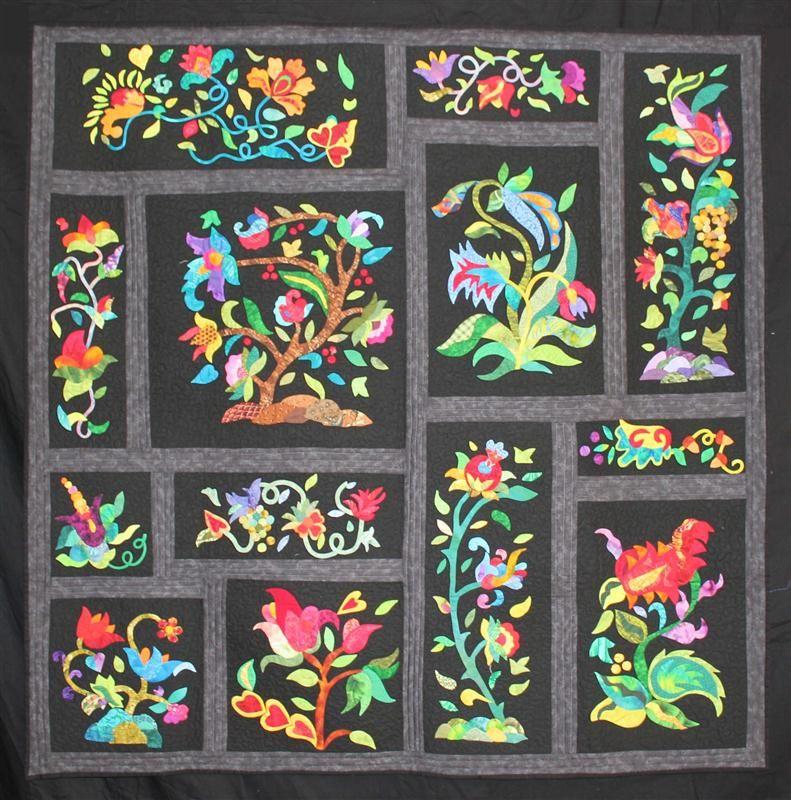 stunning   Quilts - Applique (Traditional)   Pinterest   Applique ... : jacobean quilt - Adamdwight.com