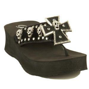 0857d7b16 Grazie (Trick model) High Heel Sandals at Gotham City Online  flipflops   shoes  skulls