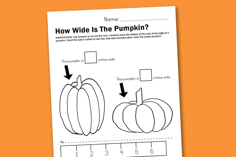 Worksheet Wednesday Measuring Pumpkins