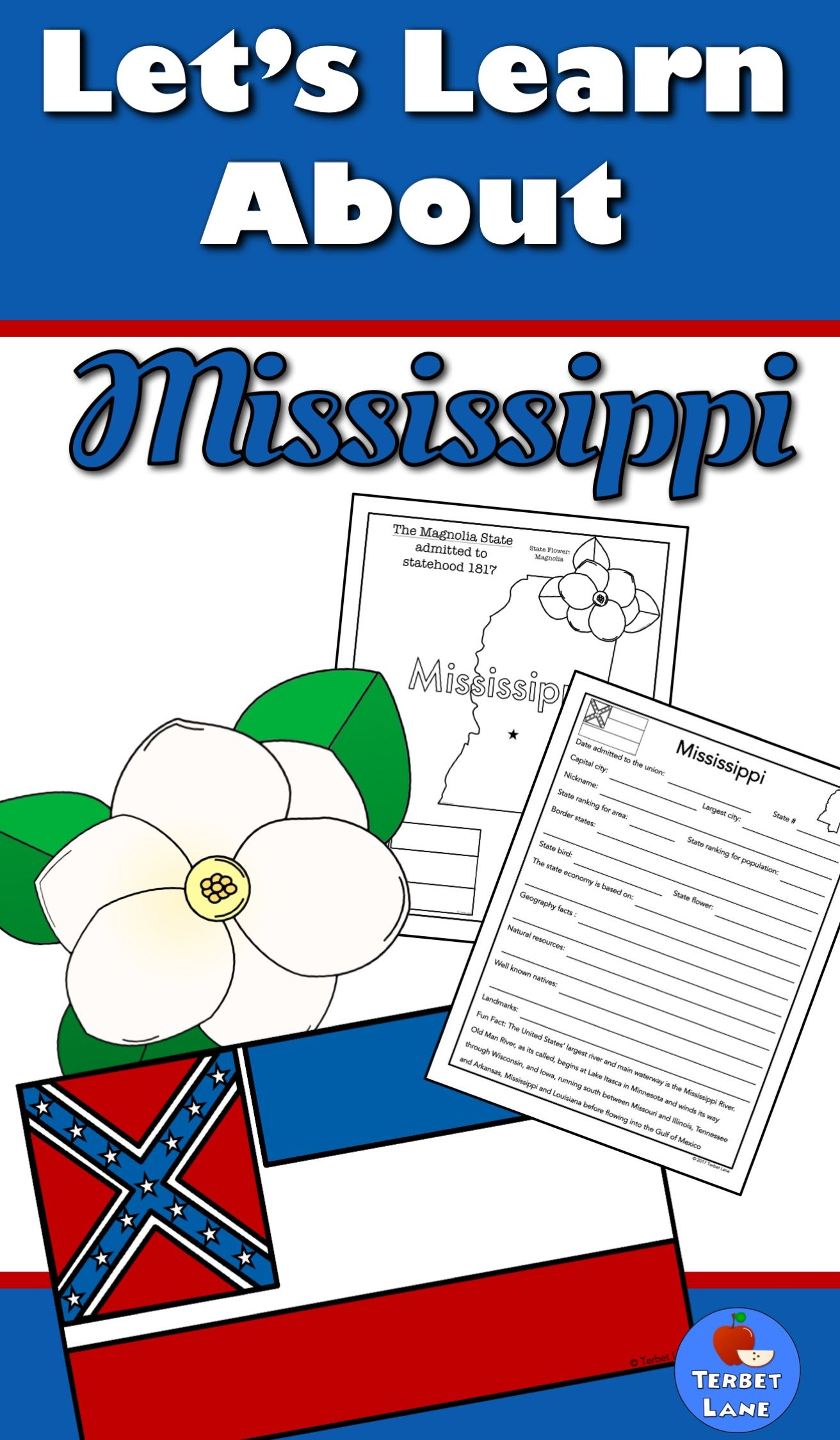 Mississippi history and symbols unit study pinterest geography mississippi state symbols history geography economics and more includes coloring sheets a fact sheet and 18 research task cards for further study publicscrutiny Images