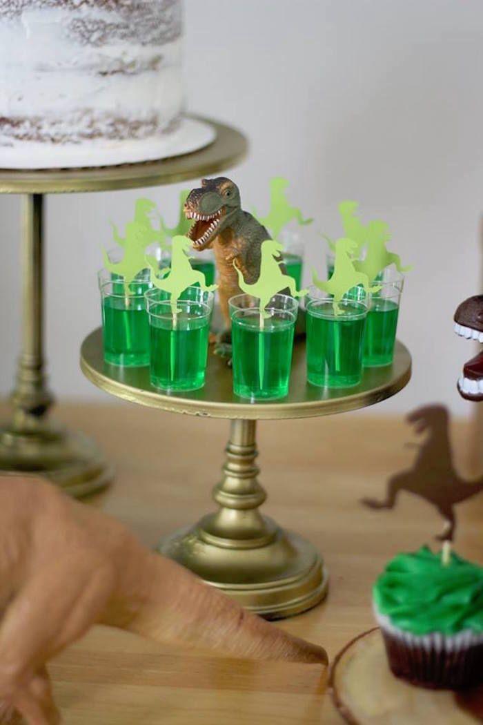 T Rex Jello From A Three Dinosaur Birthday Party On Karas Ideas
