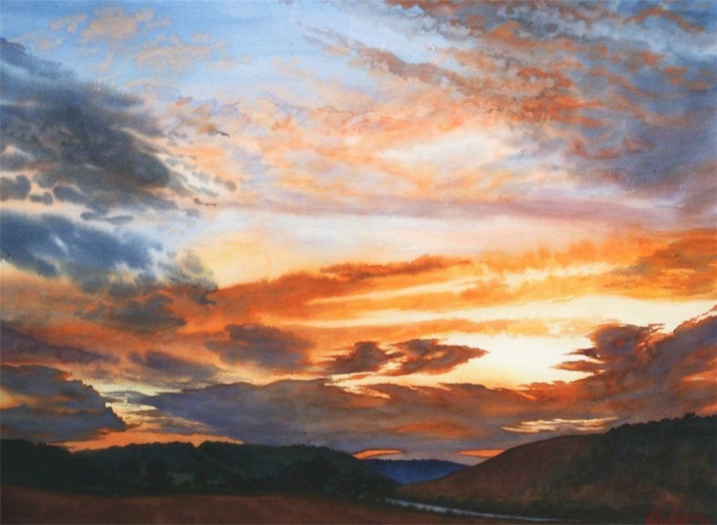 How to paint clouds in watercolor watercolor clouds