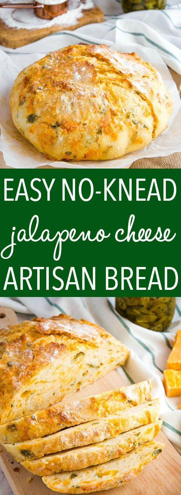 This Easy No Knead Jalapeno Cheese Artisan Bread is the BEST savoury bread for sandwiches! It's packed with spicy pickled jalapeños and real cheddar cheese! Recipe from thebusybaker.ca! #cheese #jalapeno #bread #noknead #artisan #bakery #dutchoven #easyrecipe #recipe #comfortfood via @busybakerblog #LowCarbPancakeRecipe