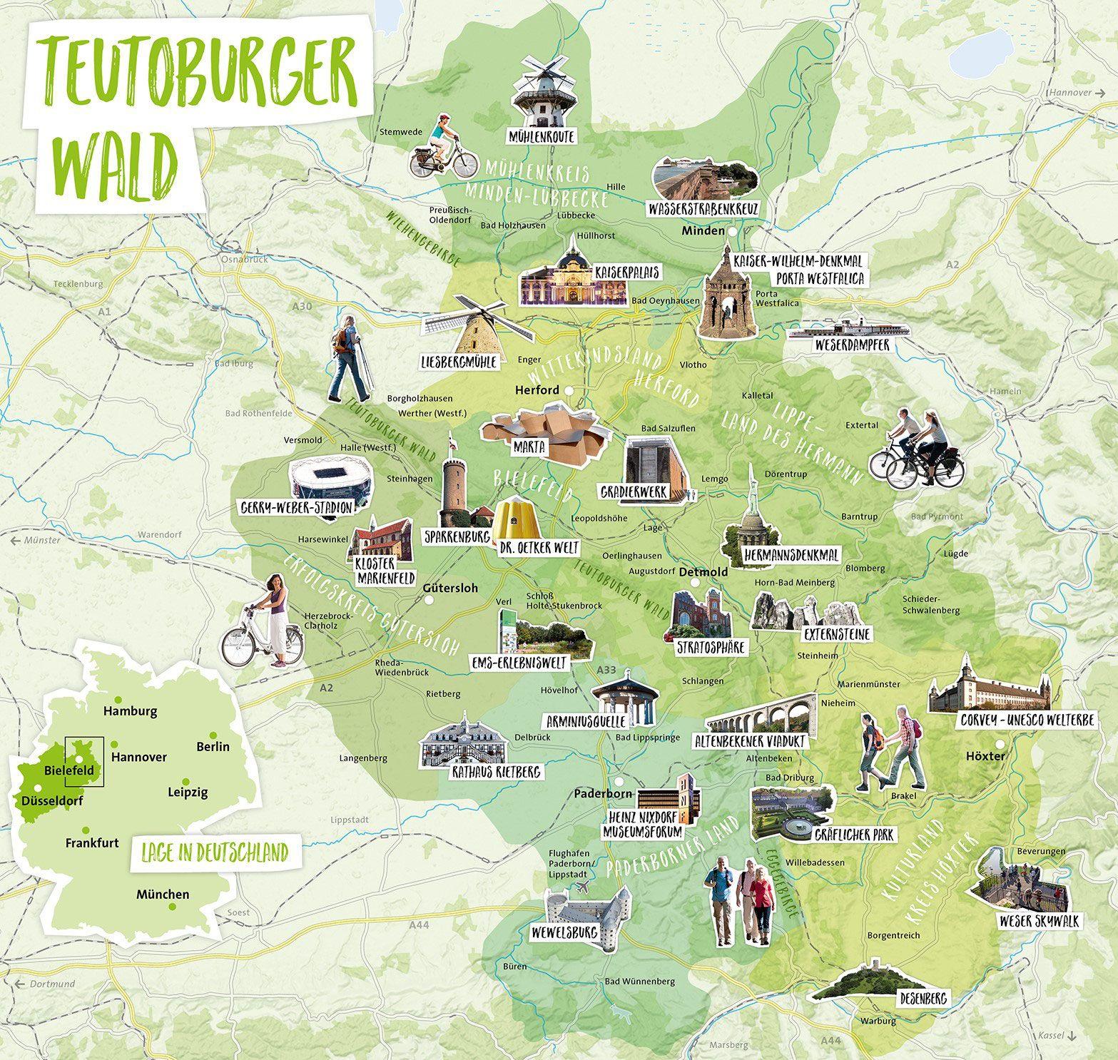 Wanderurlaub Wanderregion Teutoburger Wald Wanderurlaub Ausflug Nrw Urlaub