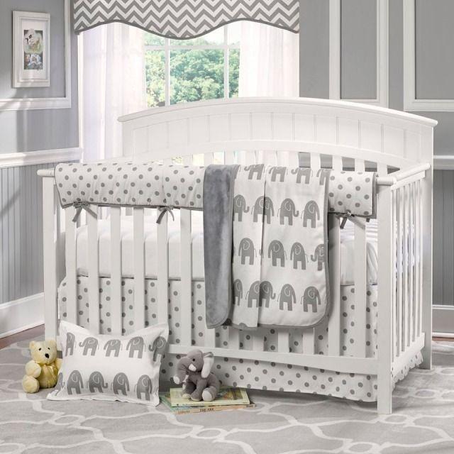 Idée déco chambre bébé sympa et originale à motif d\'éléphant ...
