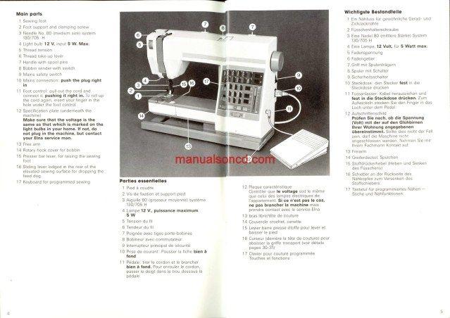 elna club 4d overlocker manuals - responsenolas