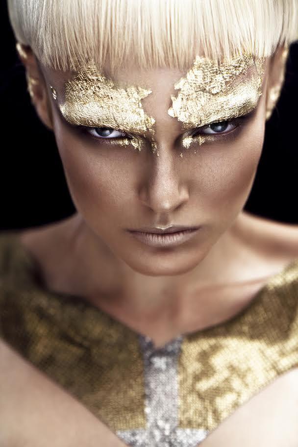 Gold Editorial High Fashion Makeup Editorial Makeup Fashion Makeup