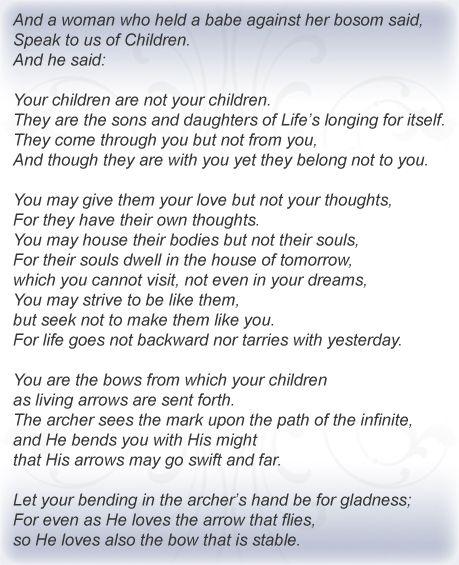 kahlil gibran citater Khalil Gibran your #children | Children | Pinterest kahlil gibran citater