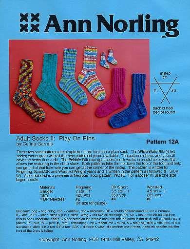 Ann Norling Sock Patterns 12 12a 26 Knit Sock Patterns