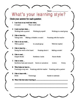Obsessed image with learning styles quiz printable