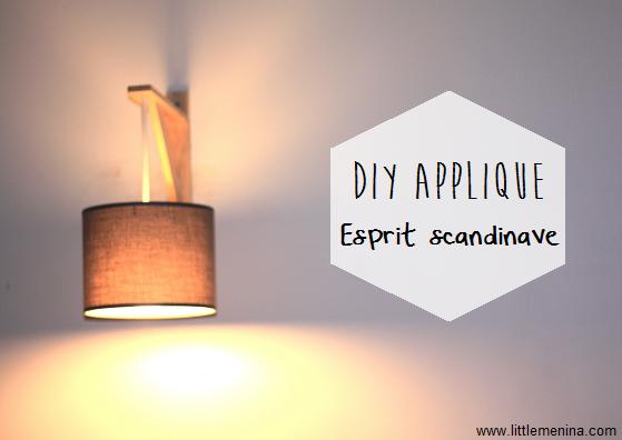 diy une applique esprit scandinave lampes pinterest salons decoration and lights. Black Bedroom Furniture Sets. Home Design Ideas