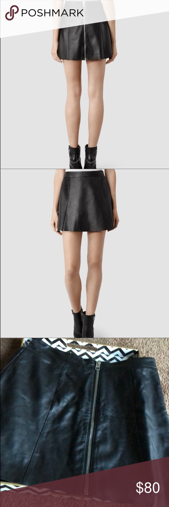 But Sens Flash Sale All Saints Leather Sens Skirt My Posh Closet