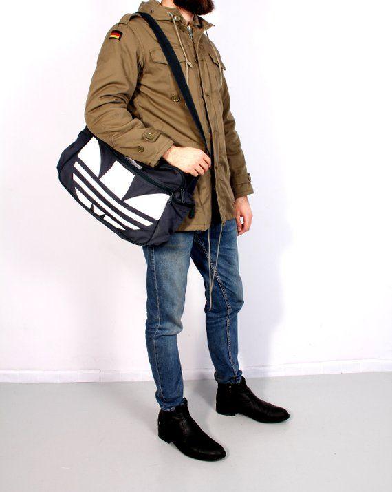 Adidas Bag Gym Bag Big Logo Adidas Shoulder Bag Unisex Sport Travel ... e79ee576ac553