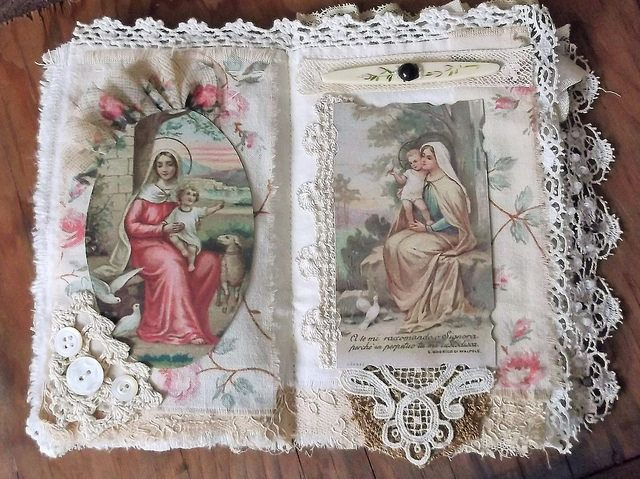 Mary and Jesus Fabric Collage Book, Pages 4&5 | Flickr - Photo Sharing!
