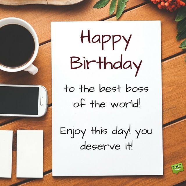 Birthday Greetings For Boss, Happy