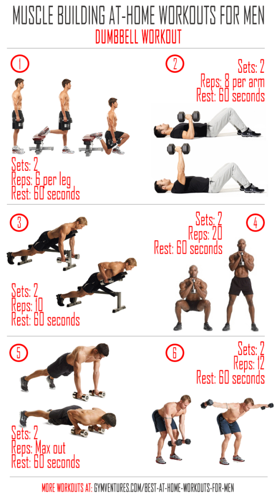 At Home Workouts For Men Dumbbell Workout