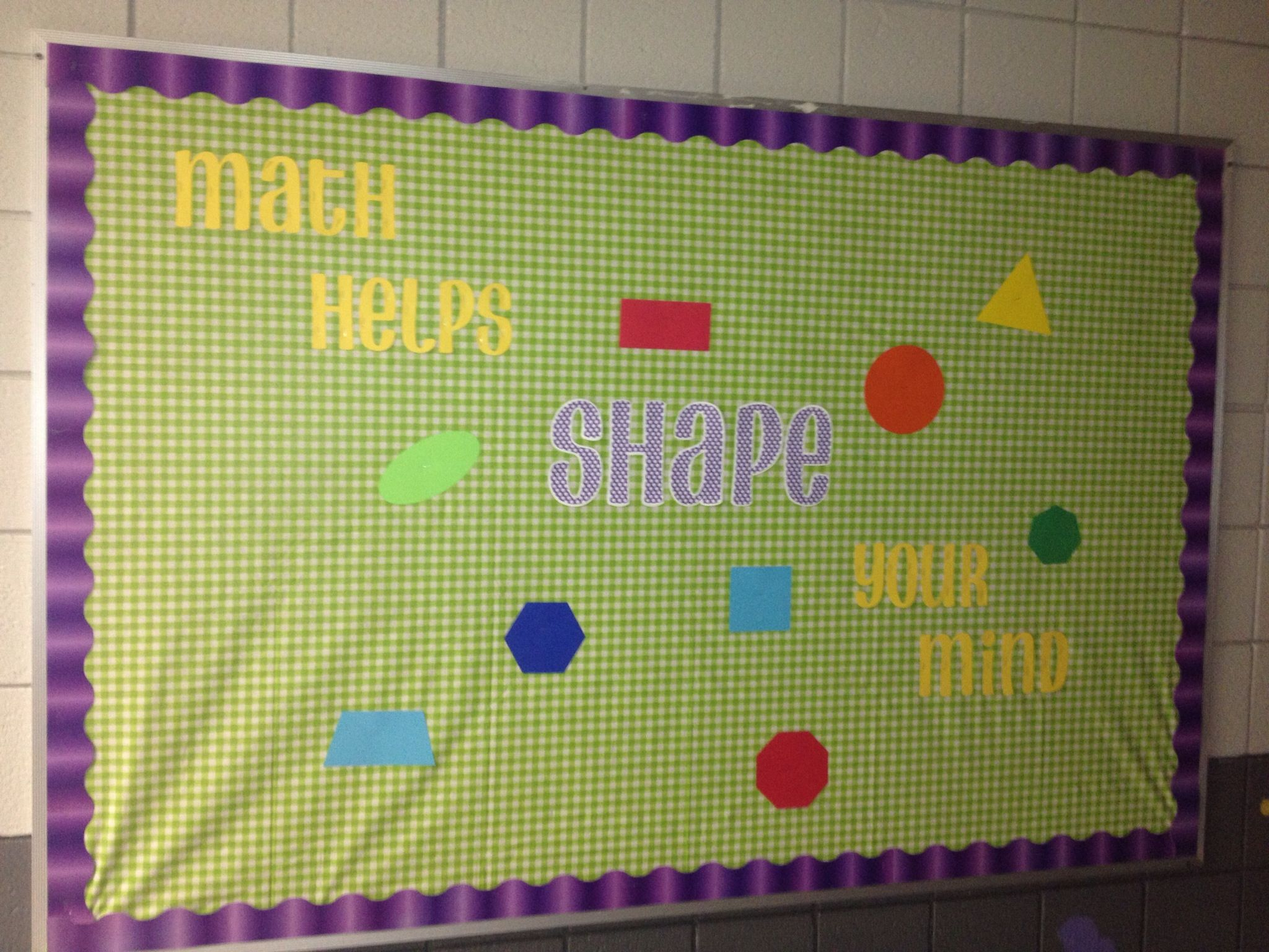 Scrapbook paper dollar general - Math Bulletin Board Math Helps Shape Your Mind The Background Is A Dollar General