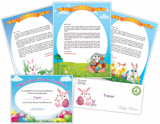Free Easter Bunny Letter Printable  Easter Bunny Free Printable