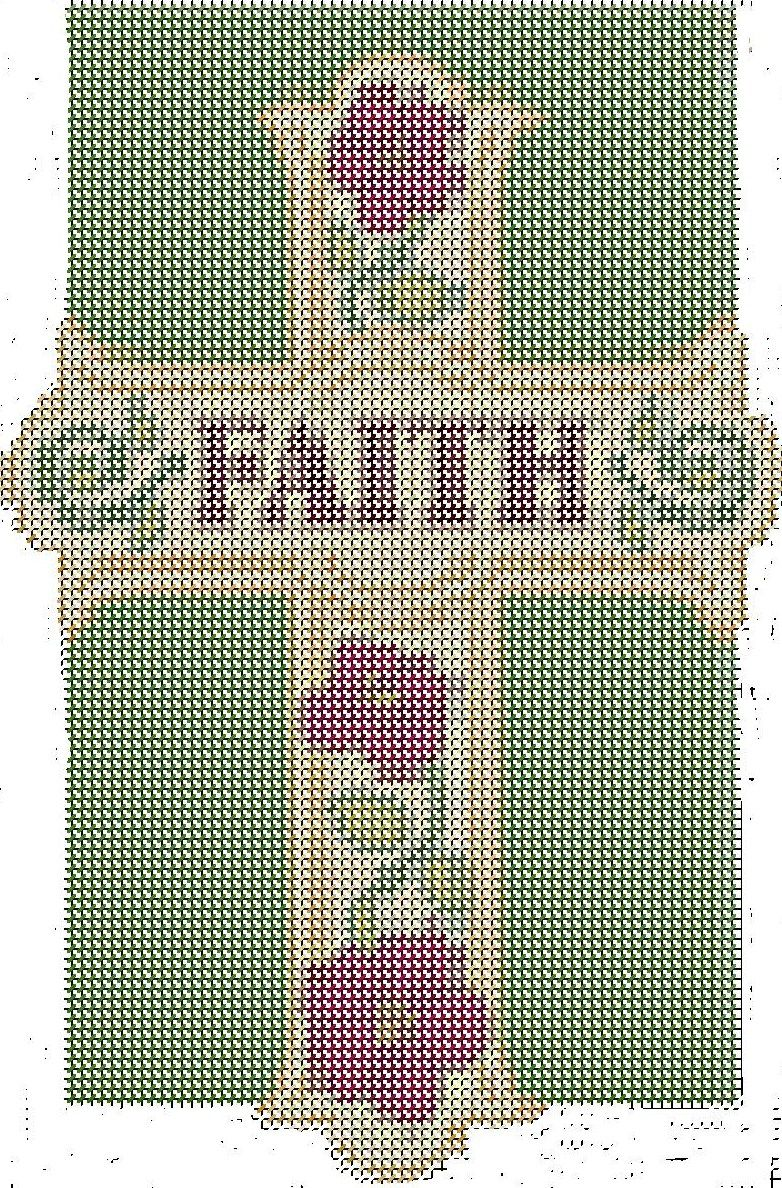 Faith Cross There Is No Color Chart For This Cross