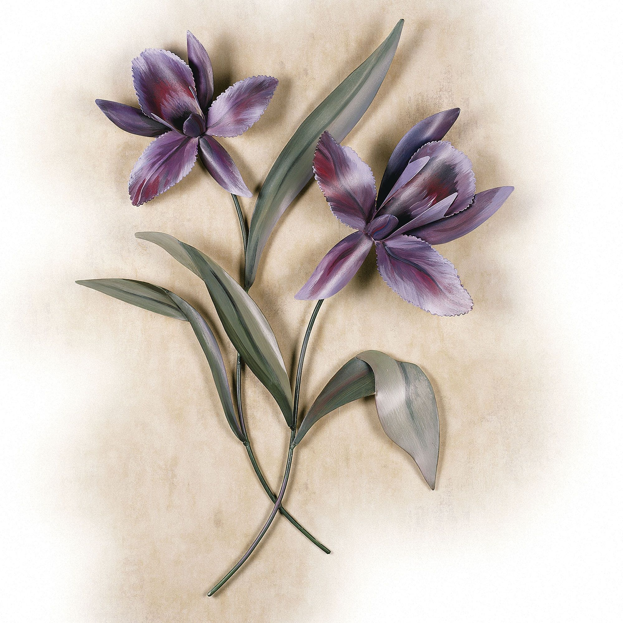 Orchid blossom metal wall sculpture