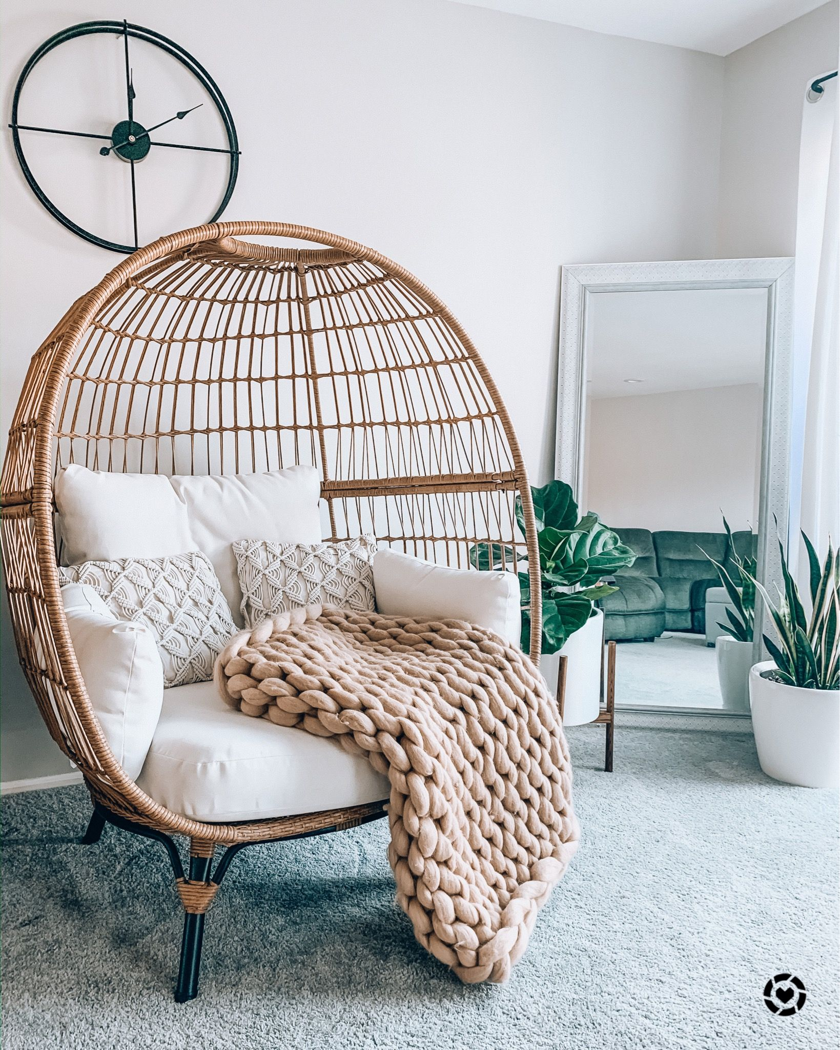 Living Room Egg Chair Liketoknow It In 2020 Room Swing Living Room Corner Room Ideas Bedroom