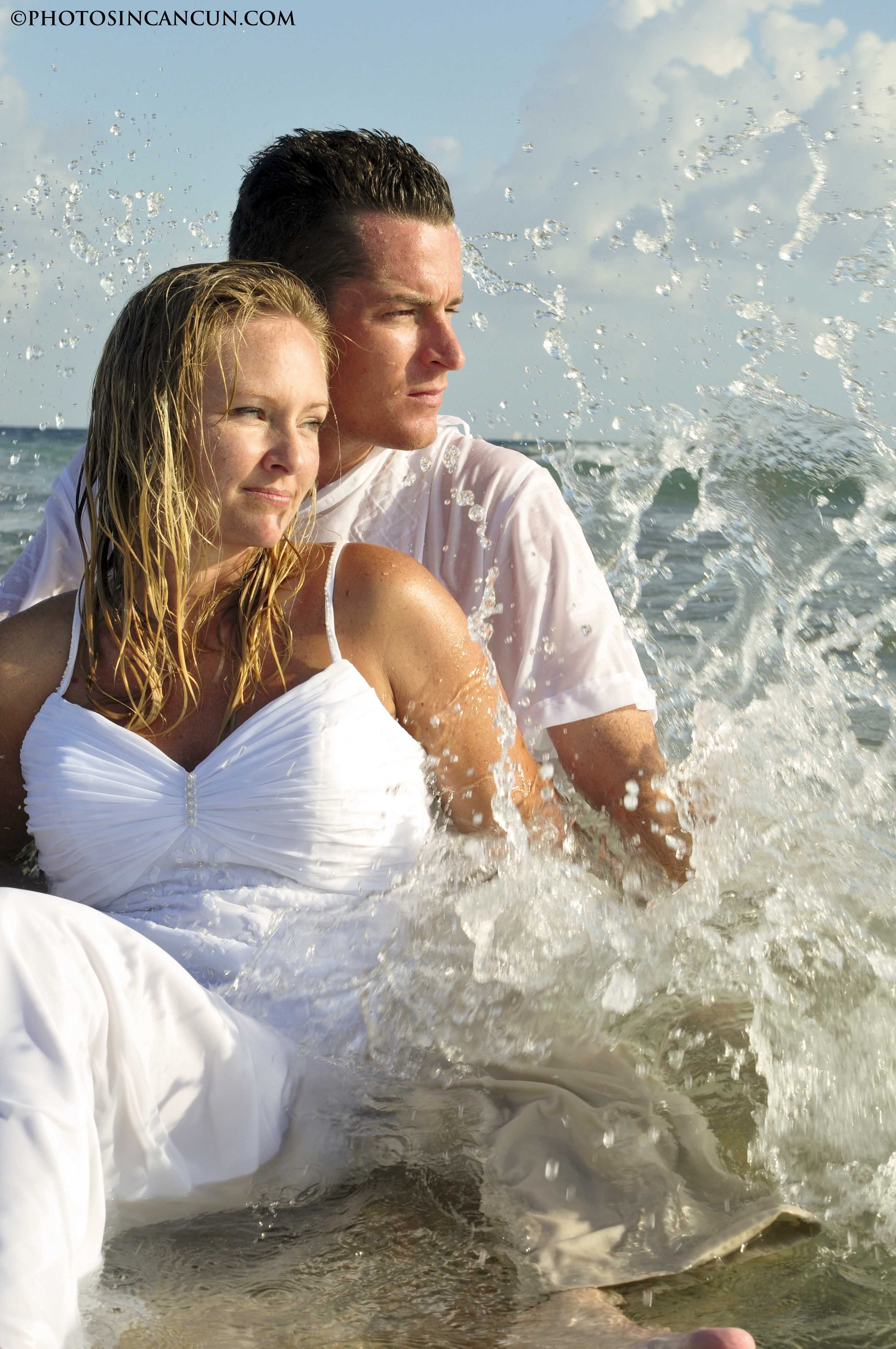 Trash Your Wedding Dress | Barcelo Maya Wedding and Trash The Dress ...