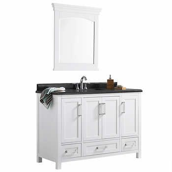 Cypress Hills 48 in Pure White Astaire Bathroom Vanity Bathroom